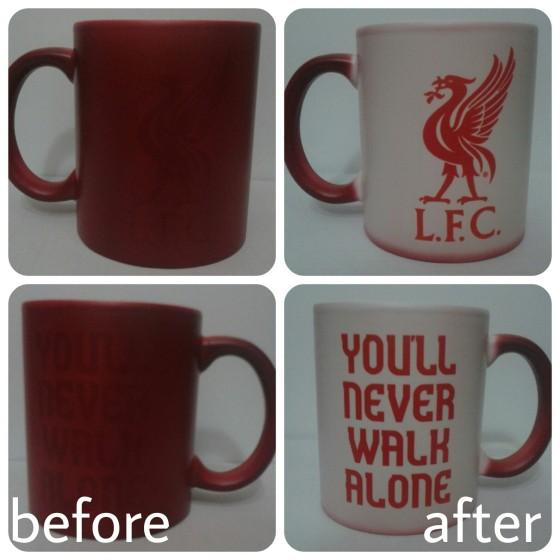mug bunglon merah