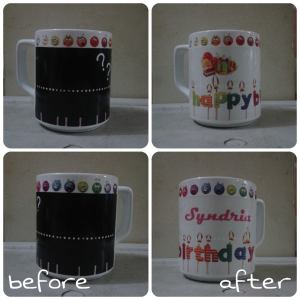 mug bunglon happy b'day