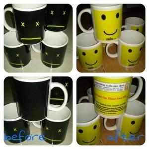mug bunglon smile